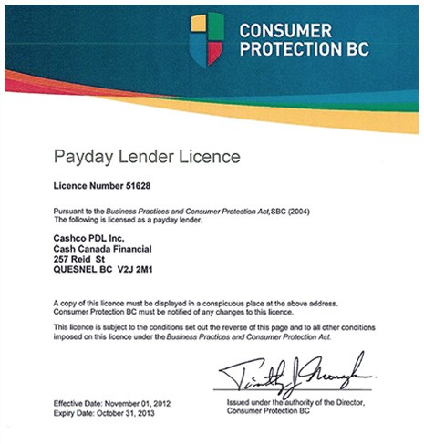 Ontario payday lending education fund
