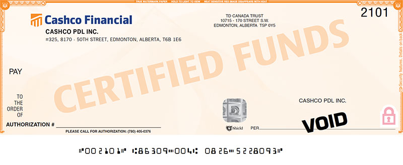 cashco cheque