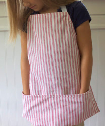 DIY dishtowel kids apron