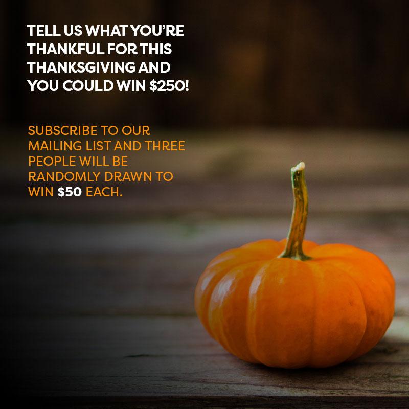 Cashco Thanksgiving Contest